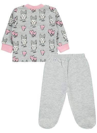 Civil Baby Kız Bebek Pijama Takımı Pembe